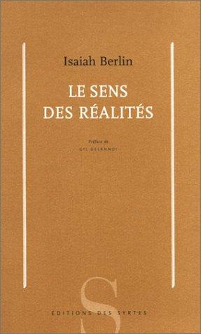 9782845450646: Le sens des réalités (Essai)