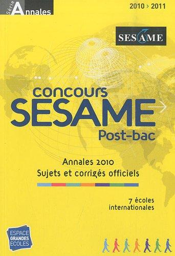 9782845552487: Concours SESAME : Annales, sujets et corrigés officiels