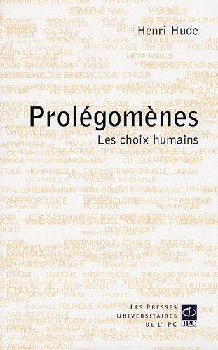 Prolégomènes (French Edition): Henri Hude