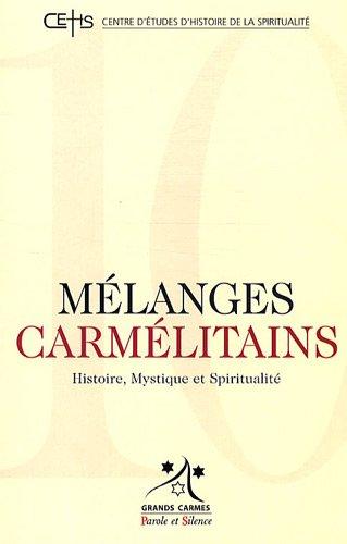 9782845738126: Melanges Carmelitains 10