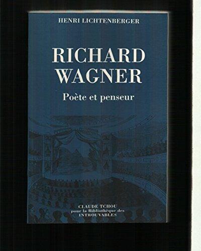 9782845750173: Richard Wagner : poète et penseur