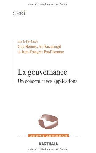 9782845865778: La gouvernance : Un concept et ses applications