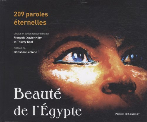 9782845922938: Beaut� de l'Egypte : 209 paroles �ternelles