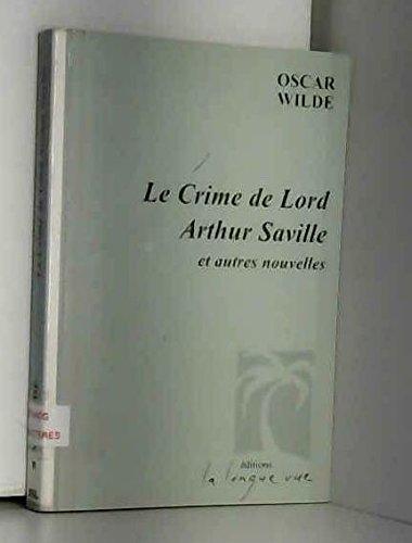 9782846190046: Le crime de lord Arthur Saville : et autres nouvelles