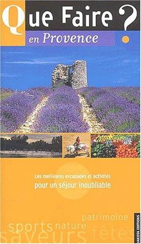 9782846400251: Que faire en Provence
