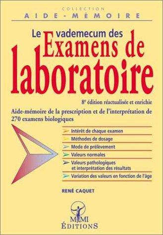 9782846500197: Le vademecum des examens de laboratoire. 8ème édition