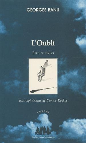 """""""l'oubli ; essai en miettes"""" (9782846810333) by [???]"""