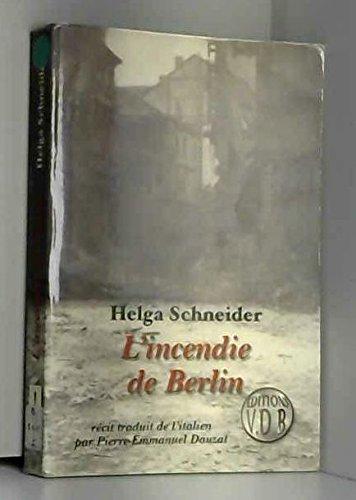 9782846941587: INCENDIE DE BERLIN (L')