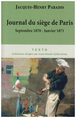 9782847345193: Journal du siège de Paris