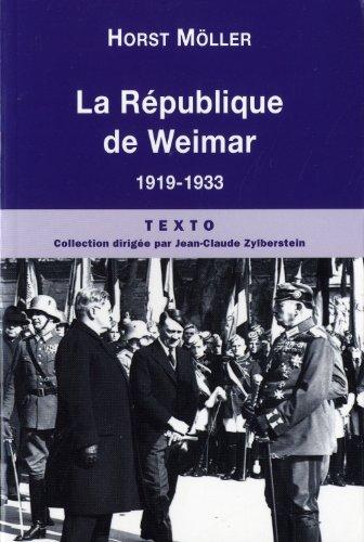 9782847347654: La République de Weimar