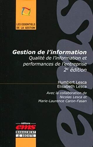 9782847691306: Gestion de l'information