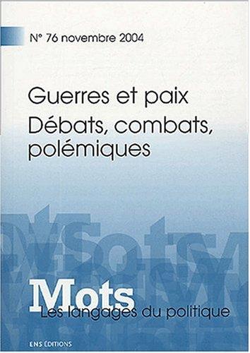 Mots, les langages du politique, N° 76: Ruth Amossy; Pierre