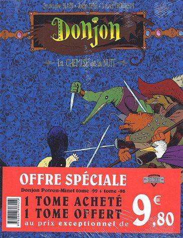 9782847898422: Donjon Potron-Minet : Pack en 2 volumes : Tome 98, Un justicier dans l'ennui ; Tome 99, La Chemise de la nuit
