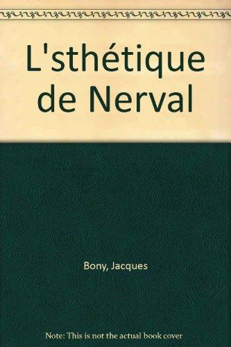 9782848300405: L'sthétique de Nerval
