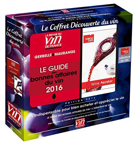 9782848319155: Le Coffret découverte du vin : Le guide des bonnes affaires du vin + L'aérateur de vin Vacuvin