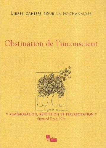 Obstination de l'inconscient, no 09: Collectif