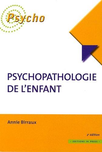 9782848351513: Psychopathologie de l'enfant