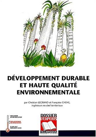 9782848660066: Developpement durable et haute qualite environnementale (French Edition)