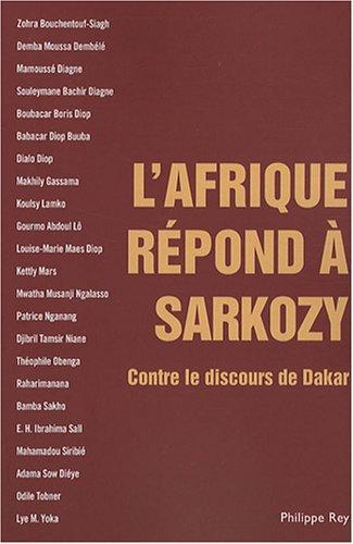 9782848761107: Afrique répond à Sarkozy (L')