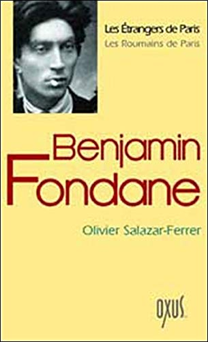 9782848980157: Benjamin Fondane (French Edition)