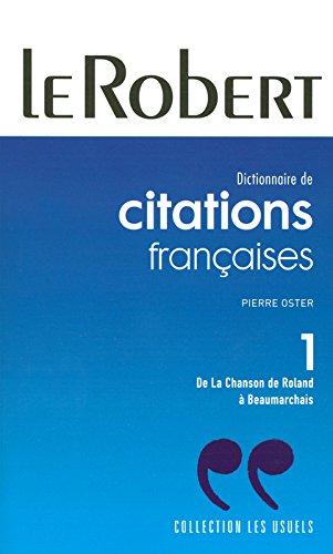 CITATIONS FRANCAISES POCHE T1 NC (01) (CITATIONS: Oster, Pierre