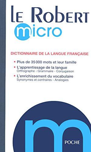 9782849024706: Le Robert Micro De Poche May 2008: Dictionnaire D'apprentissage De La Langue Francaise