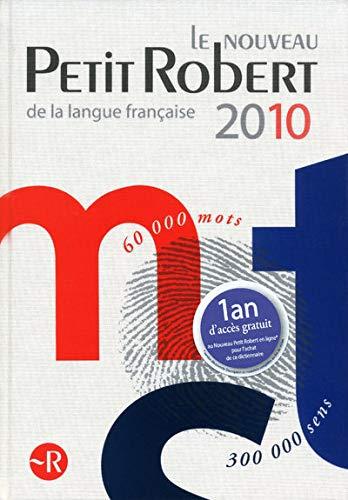 9782849026588: Le nouveau Petit Robert 2010 : Dictionnaire alphab�tique et analogique de la langue fran�aise