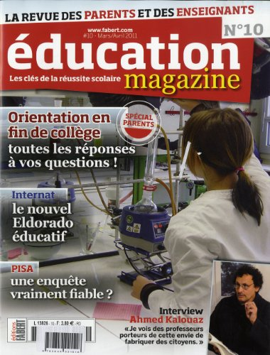 Education magazine n°10: Jean-Philippe Elie; Collectif