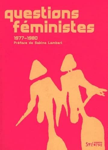 9782849503171: questions feministes 1977-1980 (UTOPIE CRITIQUE)