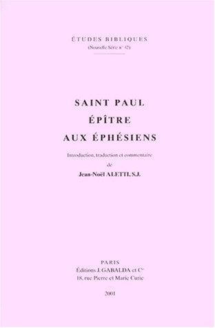 9782850211300: Saint Paul. Epitre Aux Ephesiens (Etudes Bibliques) (French Edition)