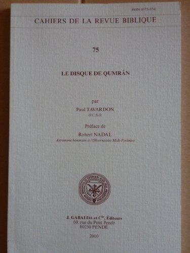 Le disque de Qumrân: Tavardon P.,