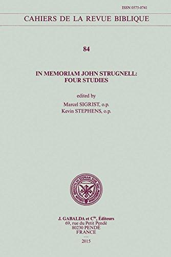In memoriam John Strugnell: Sigrist M., Stephens K.,