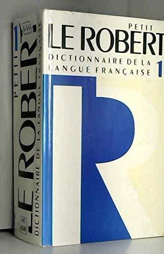 9782850362262: Le Petit Robert 1 Dictionnaire De LA Langue Francaise