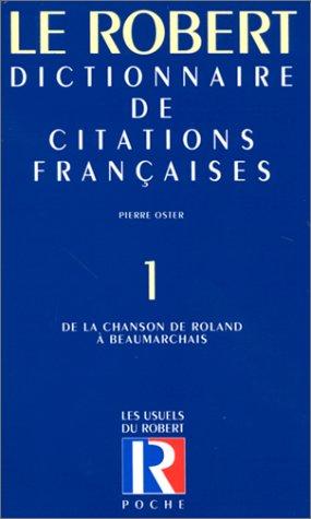 Citations franc.poche t1 - vol01 (Les usuels: Collectif; Oster, Pierre