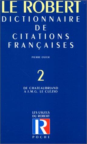 Citations française poche t2 - vol02 (Les: Collectif; Oster, Pierre