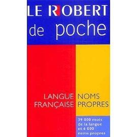 Micro Robert Poche Dictionnaire Des Noms Propres (French Edition): Distribooks, Inc