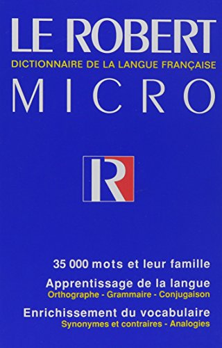 9782850365300: Micro Robert French Dictionary - Le Robert Micro (French Edition)