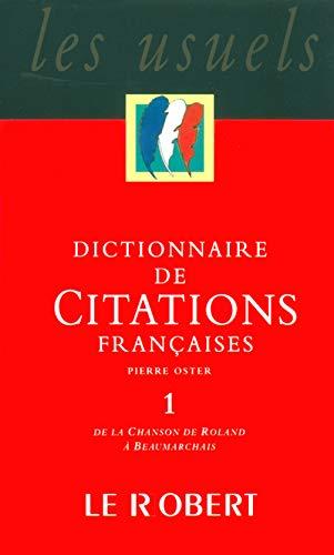 Dict citations françaises t1 - vol01 (Les: Oster, Pierre; Collectif
