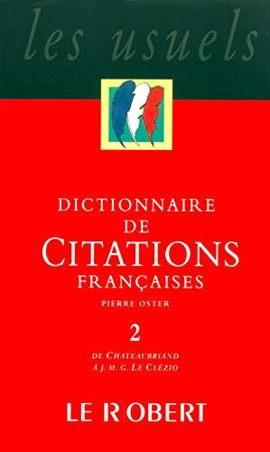 Dict citations françaises t2 - vol02 (Les: Oster, Pierre; Collectif
