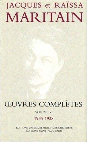 9782850492921: Oeuvres complètes, volume VI, 1935-1938