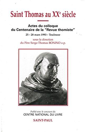9782850495717: Saint Thomas au XXe siècle