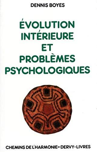 9782850760310: Evolution intérieure et problèmes psychologiques