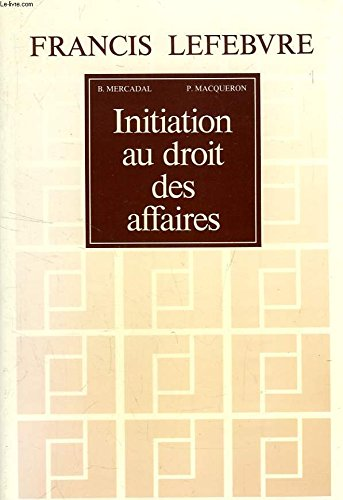 INITIATION JURIDIQUE: MERCADAL, BARTHELEMY