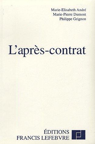 9782851156181: L'après-contrat
