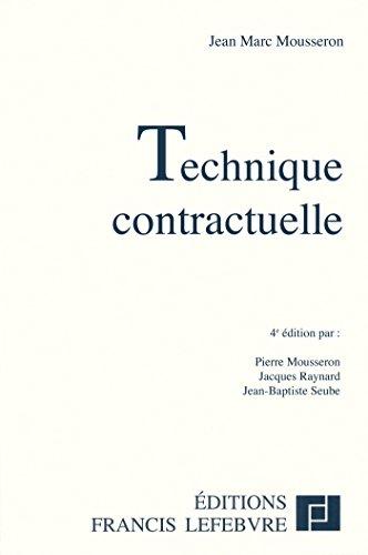 9782851158567: Technique contractuelle (French Edition)