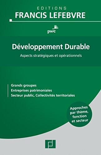 Développement durable : Aspects stratégiques et opérationnels: PWC