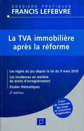 9782851159021: la TVA immobilière après la réforme