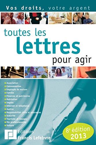 9782851159304: toutes les lettres pour agir 2012