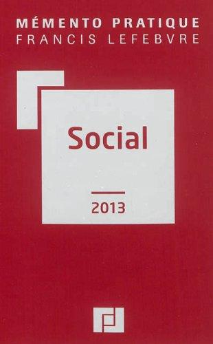 9782851159649: Memento social 2013