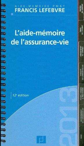 9782851159724: Aide m�moire de l'assurance vie